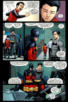 "Dick Grayson, Tim Drake & Damian Wayne ""I did notice I'm not on here"" - Dick ""You never will be"" - Tim"
