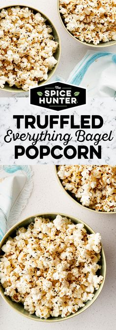 Perfect for entertaining (or cozying up on the couch), this 6-ingredient Truffled Everything Bagel Popcorn will be your new snacking go-to.