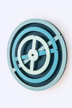 'graphic time' wall clock from raw color graphic design studio