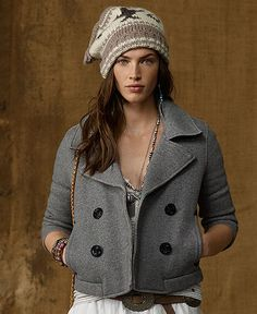 Denim & Supply Ralph Lauren Coat, Fleece Pea Coat