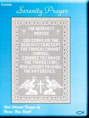 The pattern link is gone. I'll have to make my own from the pic.   ---Serenity Prayer Filet crochet pattern