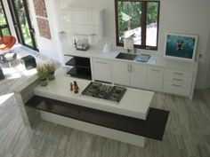 beautiful and functional island with breakfast and bar option