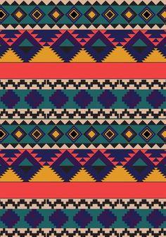 Aztec print by lisa stannard lovely crafts in 2019 arte tribal, patrones tr Arte Tribal, Tribal Art, Tribal Prints, Art Prints, Tribal Patterns, Textile Patterns, Print Patterns, Aztec Pattern Wallpaper, Fabric Wallpaper