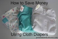How to Save Money Using Cloth Diapers - tips for using cloth diapers on a budget.
