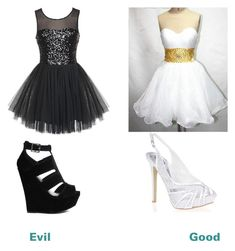 """""""Good vs evil"""" by raven-g ❤ liked on Polyvore featuring Black Swan, Truffle and Quiz"""