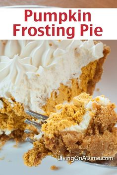 Pumpkin Frosting Pie Recipe - 16 Of The BEST Pumpkins Recipes