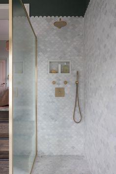 Scallop Tiles, Victorian Bathroom, Victorian House, Dressing Room Design, Family Bathroom, Bathroom Interior Design, Home And Family, Modern Family, Family Life