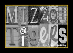 Mizzou Tigers letter art 8x10 Print by A2Z Photography   A perfect gift for any Tigers fan or addition to any Mizzou man cave    To keep updated on all my photos visit www.facebook.com/a2zphoto    If you love this print but would like it in a different size here are links to the other choices    ...