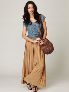 Free People -  Buttoned Up Skirt