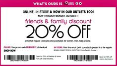 Bloomingdale's Friends and Family Sale 2012: 20% off online and in-store