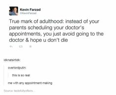 Doctors appointments