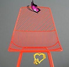Lotta Agaton orange<br> Jessica Black, Orange, Black And White, Chair, Furniture, Home Decor, Blanco Y Negro, Stool, Interior Design
