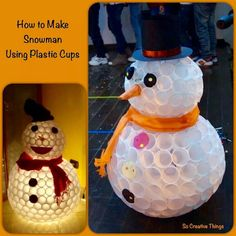 Platic cup Snowman