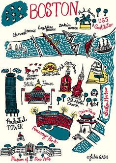 Boston Cityscape by Julia Gash