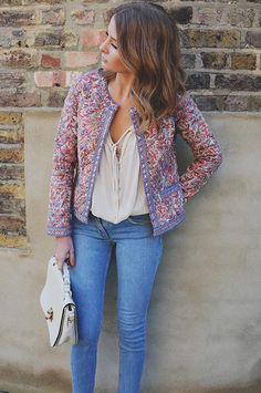 Add some spunk to your daily outfit this season with a multi-coloured jacket! Looks Style, Style Me, Millie Mackintosh, Look Boho, Spring Summer Fashion, Passion For Fashion, Celebrity Style, At Least, Street Style