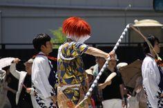 綾傘鉾の棒振り囃子。傘鉾の鐘方は、腰に鐘を付けて演奏するんですね。 祇園祭 京都 kyoto gion festival