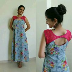 15 Stylish Back Neck Designs for Kurtis Kurti Back Neck Designs, Simple Kurti Designs, Kurta Neck Design, Neck Designs For Suits, Fancy Blouse Designs, Designs For Dresses, Blouse Neck Designs, Chudi Neck Designs, Kurtha Designs