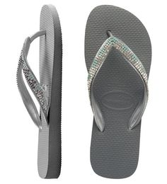 c0913e753de39 Elegant Havaianas with hand-stitched straps of 4 rows · Swarovski CrystalsDelicateFashion  ...