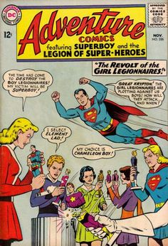 Adventure Comics 326 Strict NM- Female Legionnaires Supergirl Off Sale Ends Dc Comic Books, Comic Book Covers, Comic Book Characters, Comic Art, Legion Of Superheroes, Supergirl Dc, Superman Comic, Silver Age Comics, Dc Comics Art
