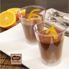 Mousse de Chocolate negro a la naranja