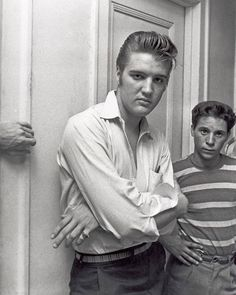 Candid Elvis,   Hanging with the boys, 1956.