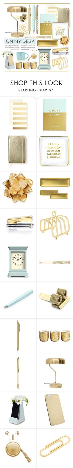 """On My Desk.."" by vkevans on Polyvore featuring interior, interiors, interior design, home, home decor, interior decorating, Kate Spade, kikki.K, Saturday/Sunday and Draper James"