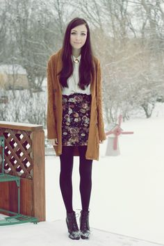 flattery: Foggy Heart Winter fashion inspiration. Details of pieces on the blog: http://www.flattery.ca