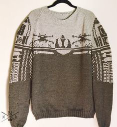 Paid - DK - Ravelry: Rebel Alliance Sweater pattern by Natalie Meredith Jumper Knitting Pattern, Knitting Patterns Free, Knit Patterns, Free Knitting, Knitting Tutorials, Knitting Machine, Vintage Knitting, Loom Knitting, Stitch Patterns