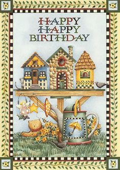 Barbara_Wyckoff uploaded this image to 'Birthdays'. See the album on Photobucket. Happy Birthday Cards Images, Happy Birthday Vintage, Birthday Cheers, Happy Birthday Greetings, Birthday Messages, Birthday Images, Birthday Clips, Art Birthday, Country Birthday