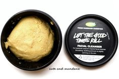 Lush Let the Good Times Roll facial scrub/cleanser. It looks and smells delicious