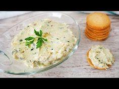 PATÉ DE CALABACÍN - YouTube Cocina Light, Mousse, Canapes, Hummus, Camembert Cheese, Potato Salad, Mashed Potatoes, Yummy Food, Yummy Yummy