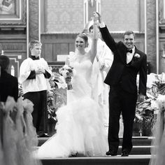 The big moment. Mr and Mrs Roger Franklin