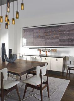 Modern mid century dining room - Jeff Lincoln Interiors