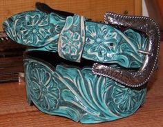 Hand carved Turquoise belt
