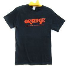 Vintage 90s Orange The Legendary British Guitar Amp Guitar Music Rockers Man Musician T Shirt by ArenaVintage