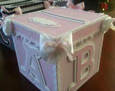 Baby Shower Card Box Money | ... Money Card Box / Gift Card Box / Baby Shower Card Box / Baby Keepsake