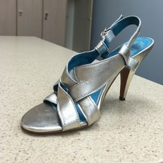 "Jeffrey Campbell Ibiza strappy metallic heels Remarkable, comfortable, handmade, leather. Heels have ""ding"" marks. Hardly noticeable while rockin' them out. Terrific opportunity to own these great shoes at an affordable price. Jeffrey Campbell Shoes Heels"