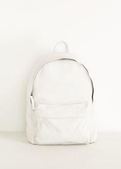 Ann Demeulemeester Shank Backpack (White)