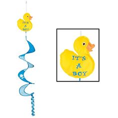Club Pack of 12 Adorable Just Duckie Its A Boy WindSpinner Baby Shower Party Decorations 35 * Read more reviews of the product by visiting the link on the image.