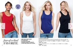 4-Pack of Lace Detail Tanks! Just $24.99! Four lace-detail tanks in cherry, bright white, deep blue and true black. Machine wash, dry flat. A cotton/polyester/spandex blend for ultimate comfort.  Avon's Summer Special Brochure is full of fantastic buys on everything from skincare to some really cute shoes! Click on the link or just hit the Shop Now button and see everything Avon has to offer; you never know what you have been missing out on! Avon's not just your Grandma's cologne anymore…