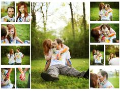 Paint Engagement photo shoot
