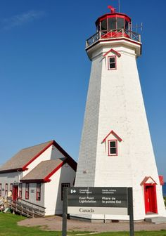 East Point Light, Prince Edward Island - gets moved back from the cliff edge now and then.  It's up east from Souris.