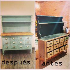 Antes y despu s de nuestra mesilla salamandra www - Muebles restaurados online ...