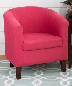 Another great find on #zulily! Fuchsia Accent Chair #zulilyfinds