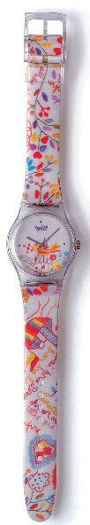 Relógio com o tema do bordado português Lenço de Namorados. Retirado de: http://www.terra-lusa.com/coleccao.html