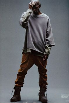 Urban Fashion, Men's Fashion, Fashion Design, Kanye West Adidas Yeezy, Yeezus Kanye, Street Style Photography, Yeezy Season 1, Yeezy Fashion, Anime Outfits