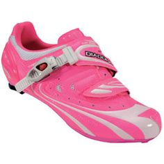 pink cycling shoes