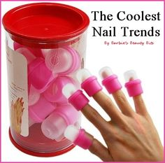 D.I.Y. nails at home with some of the best nails trends out there! Who knew some of these things existed, by Barbie's Beauty Bits