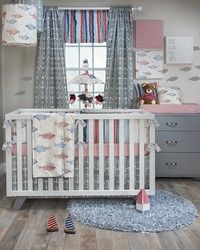 Fish Tales baby boy bedding for your little one's nursery.  Everything you need for a complete baby's room.