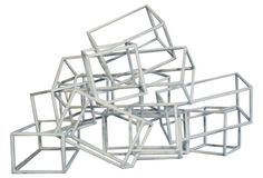 Geometric Metal Boxes Sculpture